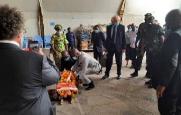 A Goma, des officiels italiens et congolais ont rendu les derniers hommages à Luca Attanasio