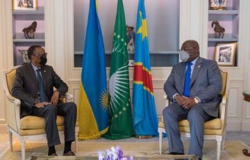 Rencontre à Paris entre les présidents Félix Tshisekedi et Paul Kagame