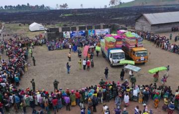Goma : L'ONG Initiative Plus d'Olive Lembe a assisté plus de 700 sinistrés du volcan Nyiragongo